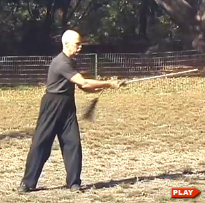 Ken Van Sickle showing Constant Sword exercise with the Tai Chi Sword