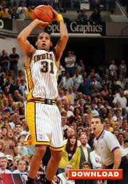 Reggie Miller - elbow-out jump shot start of release