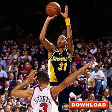 Reggie Miller - elbow-out jump shot release