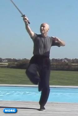Ken Van Sickle doing Tai Chi Sword Form