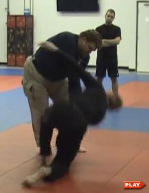 Mike Casto demonstrates disrupting balance