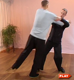 Nils Klug and partner demonstrate Single Whip Tai Chi application